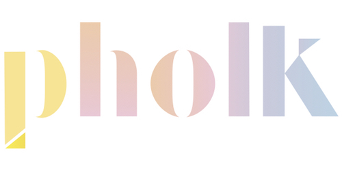 The Pholk logo in pastel rainbow colored text against a white background