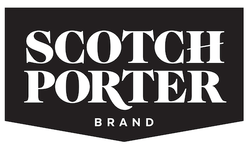 The Scotch Porter logo in white text against a black background