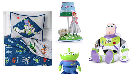 A bedding set, pillow buddy and two lamps