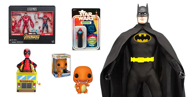 Batman, Pokemon, Star Wars, Avengers and Deadpool collectibles