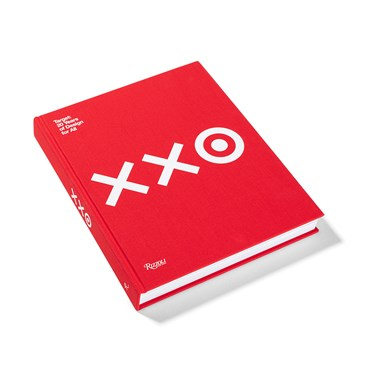 "The cover of a red book, featuring ""XX and a bullseye"" in white text"