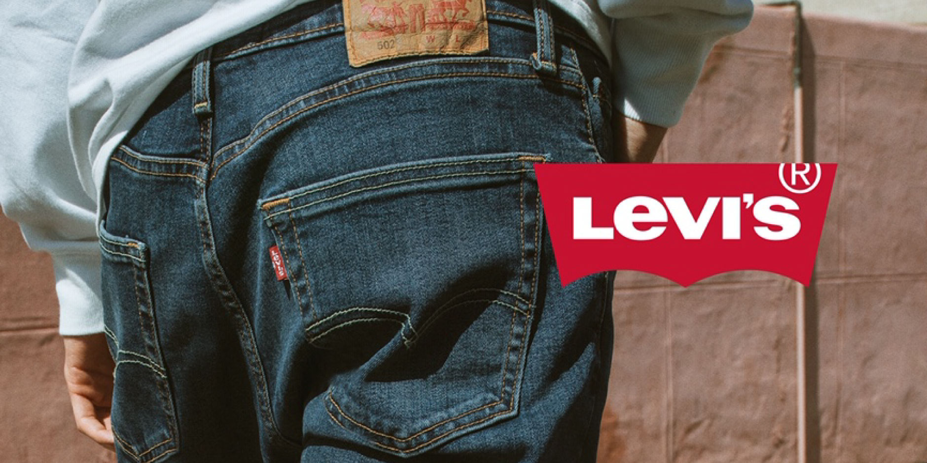 A close-up of a man wearing Levi's Red Tab denim