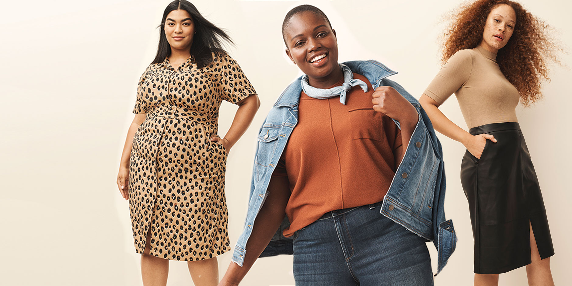 Three women model new fall fashion from Target owned brands