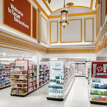 The interior aisles of the Brooklyn Bensonhurst Target store