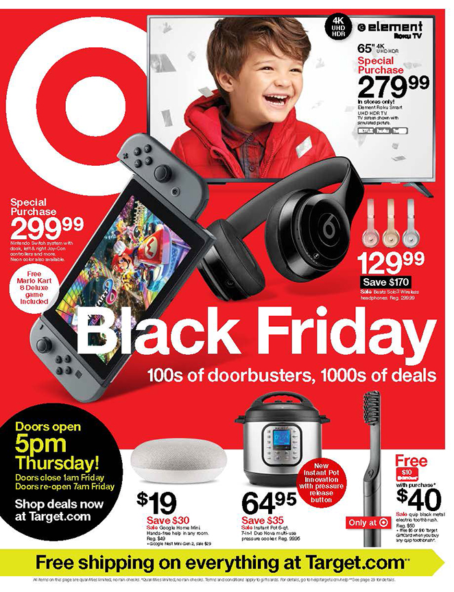 The cover of Target's 2019 Black Friday ad