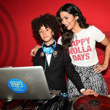 Camila Alves poses with the Target Wonderland DJ