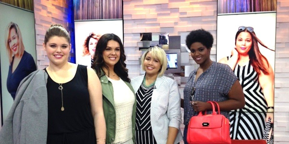 Models for AVA & VIV, Target's new Plus-size collection, on Good Morning America