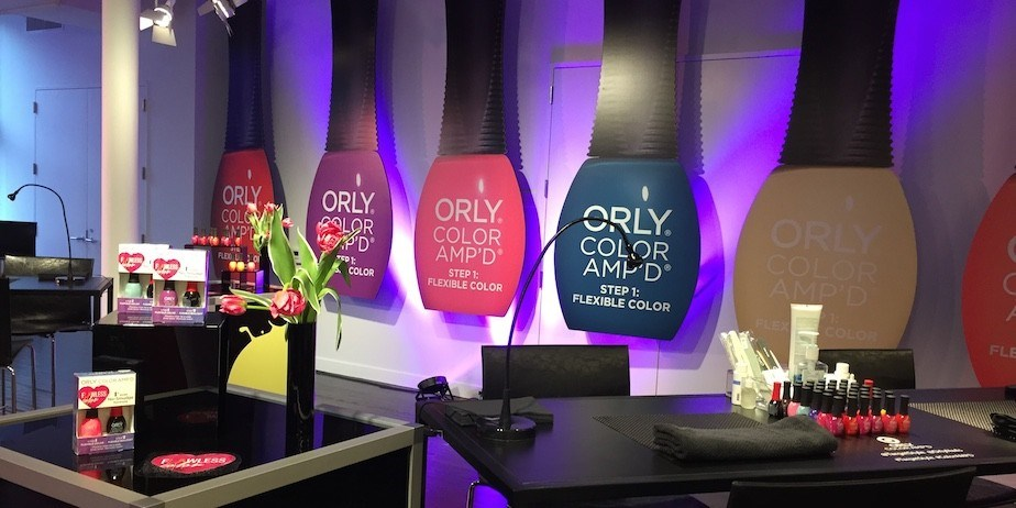 ORLY nailpolish event scene