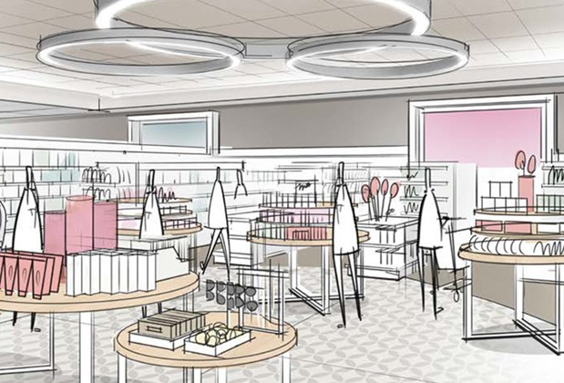 A rendering of our next generation store design