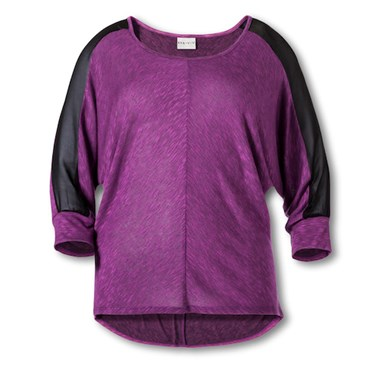 3-4-Sleeve-Top-in-Violet-Black-Sheer