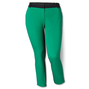 Ankle-Pant-in-Green-Black-Colorblock