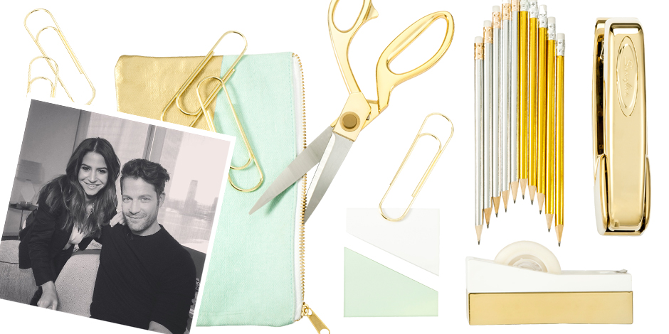 Wonderful NateBerkus Gold Silver And Green Office Supplies Collage With Picture Of Nate  Berkus