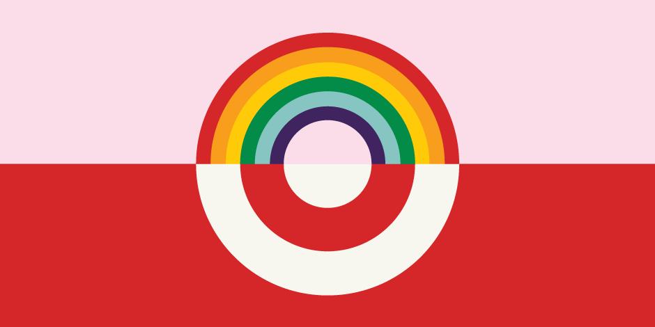 Target's rainbow bullseye logo