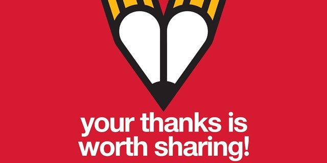 Your thanks is worth sharing