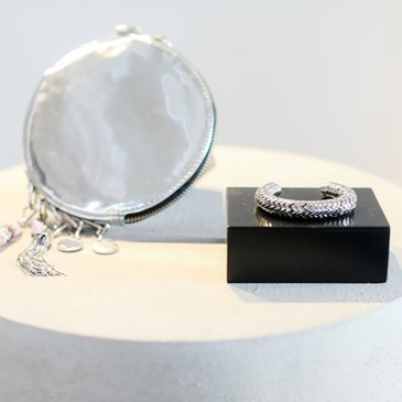 Eddie Borgo for Target Silver Disc Bag and Bracelet