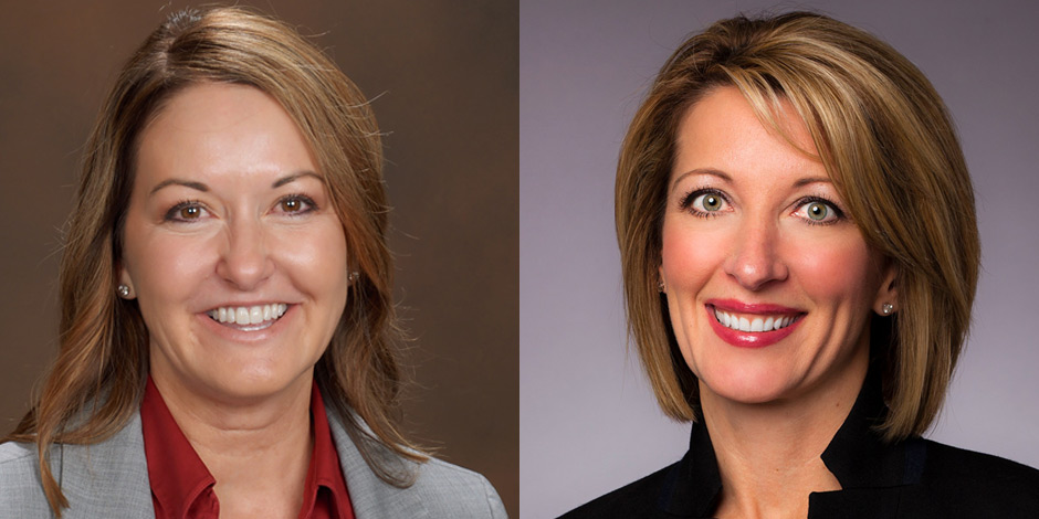 Side-by-side image of Janna Potts and Stephanie Lundquist.