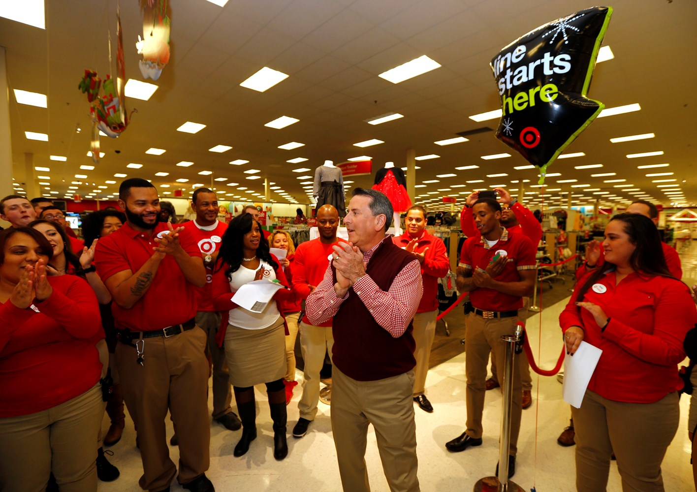 target reports strong start to black friday weekend online and in target ceo brian cornell at jersey city target cpany122