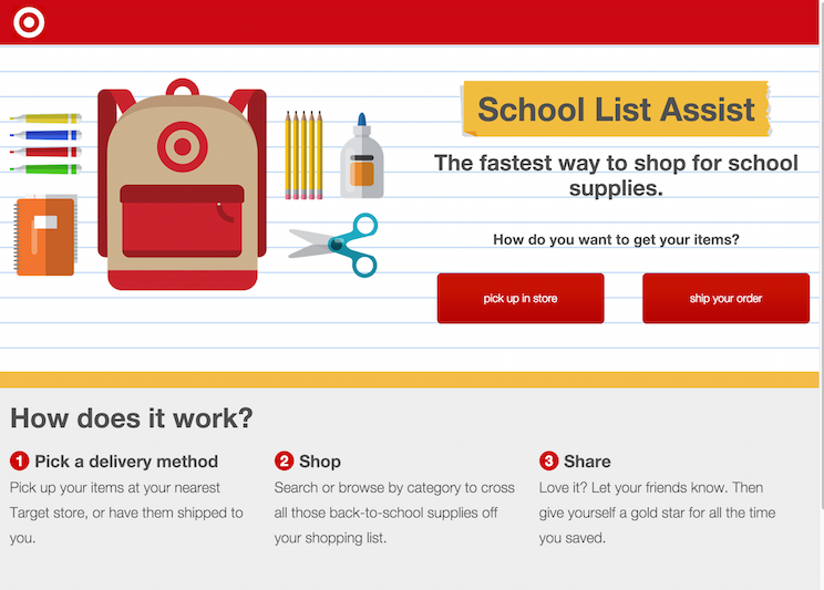 Target Benefit Hub >> Target Makes Back To School Shopping Easier For Parents And